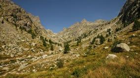 Montains del estrop, il parco di Mercantour, dipartimento del Alpes-Maritimes Fotografie Stock Libere da Diritti