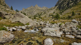 Montains del estrop, il parco di Mercantour, dipartimento del Alpes-Maritimes Immagini Stock Libere da Diritti