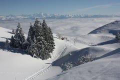 Montains dello Snowy Fotografia Stock
