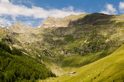 Montains and green hills of Alto Adige, Italy. Stock Photos