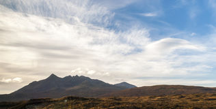 Montains in Sligachan, island of Sye, Scotland Royalty Free Stock Photos