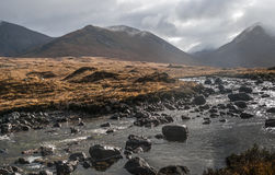Montains and torrent in Sligachan Stock Photo