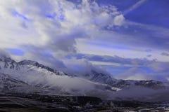 Montains vue d'un glacier Photos libres de droits