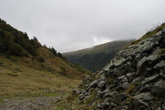 Montainsna i Frankrike Arkivfoto