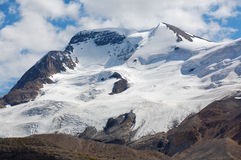 Montaje Athabasca y glaciares Imagenes de archivo