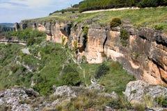 Montaje cerca de la ciudad de Cuenca fotos de archivo