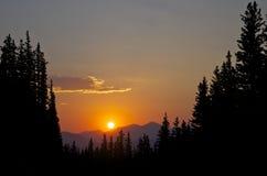 Montaje cercano Evans de la puesta del sol Imágenes de archivo libres de regalías
