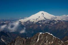 Montaje de Elbrus Imagen de archivo
