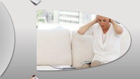 Montaje de hombres de negocios frustrados ilustración del vector