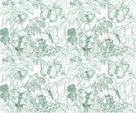 Montaje de las mariposas, verde Imagen de archivo libre de regalías