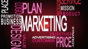 Montaje de las palabras importantes del negocio del márketing libre illustration