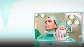 Montaje de los clips de la cirugía almacen de video