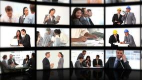 Montaje de los hombres de negocios que intercambian ideas Imágenes de archivo libres de regalías