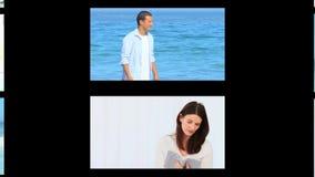 Montaje de momentos románticos almacen de video