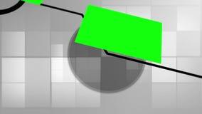 Montaje de pantallas verdes con las líneas futuristas ilustración del vector