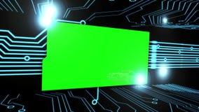 Montaje de pantallas verdes en una placa de circuito stock de ilustración