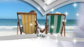 Montaje de pares jubilados en amor almacen de video