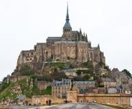 Montaje de San Miguel Normandía, Francia Imagen de archivo libre de regalías