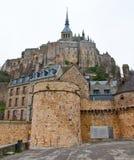 Montaje de San Miguel Normandía, Francia Imagen de archivo