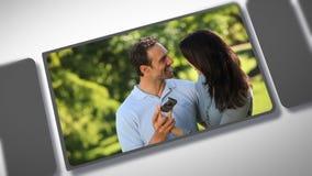 Montaje de un par romántico almacen de video
