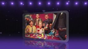 Montaje del casino con el espacio de la copia metrajes