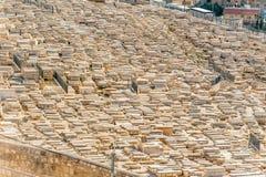Montaje del cementerio judío de las aceitunas Imagen de archivo