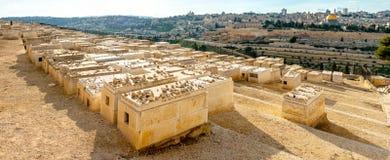 Montaje del cementerio judío de las aceitunas Foto de archivo libre de regalías