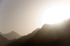 Montaje del desierto Imagen de archivo libre de regalías