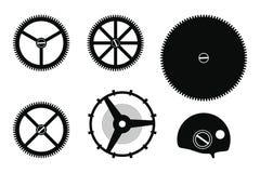 Montaje del mecanismo del reloj ilustración del vector