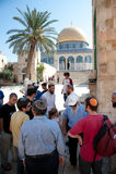 Montaje del templo de la visita de los judíos imágenes de archivo libres de regalías