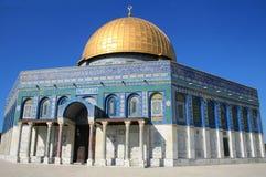 Montaje del templo en Jerusalén, bóveda de la roca fotografía de archivo libre de regalías