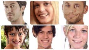 Montaje diverso de la gente almacen de video