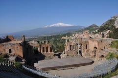 Montaje el Etna - Sicilia Imagenes de archivo