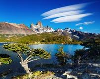 Montaje Fitz Roy, Patagonia, la Argentina Imagen de archivo libre de regalías
