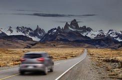 Montaje Fitz Roy, Patagonia, la Argentina Fotografía de archivo