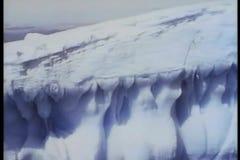 Montaje - icebergs en la Antártida almacen de video