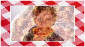 Montaje italiano de la pizza almacen de video