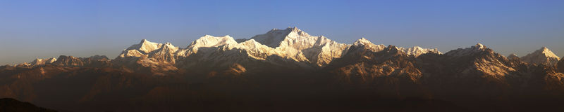 Montaje Kanchenjunga Foto de archivo libre de regalías