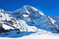 Montaje Monch, Suiza Imagenes de archivo