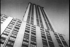 Montaje - rascacielos de Manhattan, los años 30 almacen de video