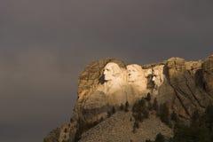 Montaje Rushmore y tormenta Foto de archivo libre de regalías
