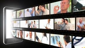 Montaje sobre atención sanitaria almacen de video