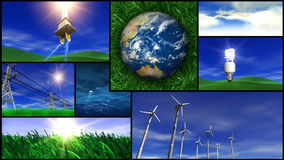 Montaje verde de la energía y de la naturaleza libre illustration