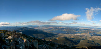 Montaje Wellington de Hobart Tasmania imagenes de archivo