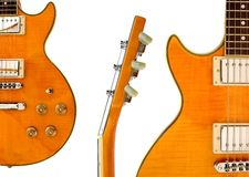 Montajes de la guitarra eléctrica foto de archivo