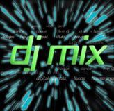 Montajes de la mezcla de DJ ilustración del vector