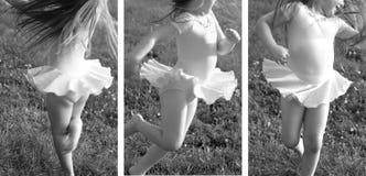 Montajes de la muchacha del ballet Fotografía de archivo