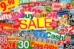 Montajes de la venta Foto de archivo libre de regalías