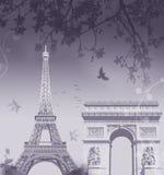 Montajes de París Stock de ilustración
