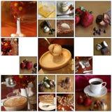 Montajes del café Foto de archivo libre de regalías